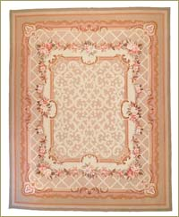 New Aubusson Kilim Area Rug