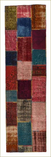 Over-dyed Anatolian Patchwork Runner